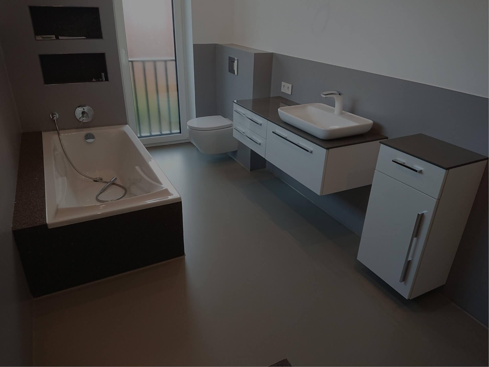 Beispiel Privathaushalt - Bodenbelag für Ihr Bad.