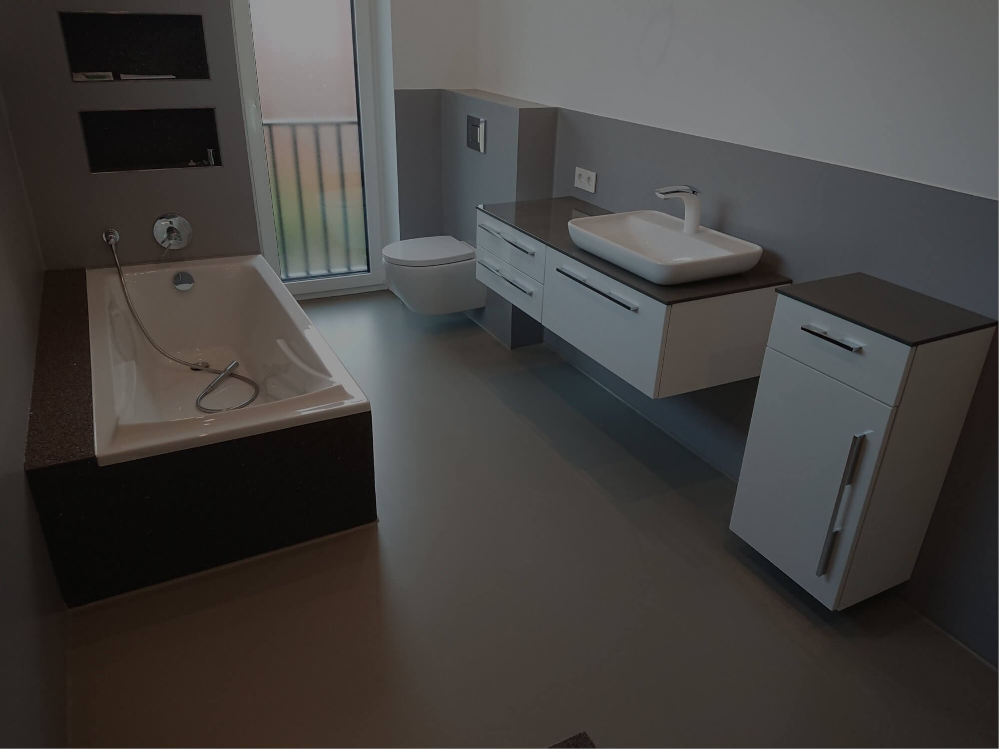 Flüssiger Bodenbelag Badezimmer